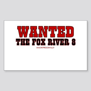 Fox River 8 Rectangle Sticker
