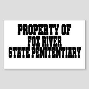 Fox River St Pen Rectangle Sticker
