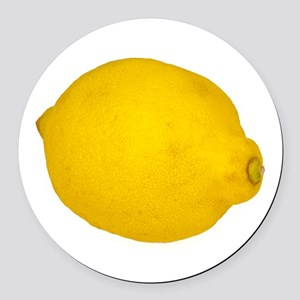 Lemon Round Car Magnet