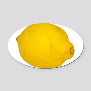 Lemon Oval Car Magnet