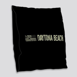 Black Flag: Daytona Beach Burlap Throw Pillow