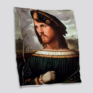 Cesare Borgia Burlap Throw Pillow