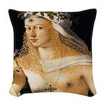 Lucrezia Borgia Woven Throw Pillow