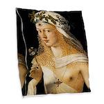 Lucrezia Borgia Burlap Throw Pillow