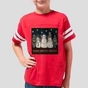 warmwinterwishesblock Youth Football Shirt