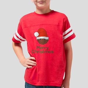 Merry Christmas Santa Dk Skin Youth Football Shirt