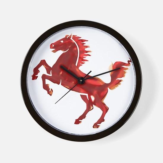 Galloping Horse Painting Wall Clock