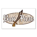 Butt Pirate (Old World) Rectangle Sticker