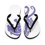 Jaguar Purple Mosaic - Flip Flops