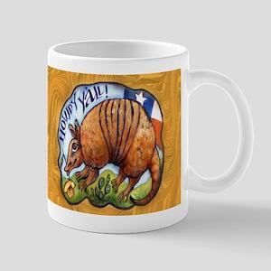 Armadillo Texas Howdy Mug