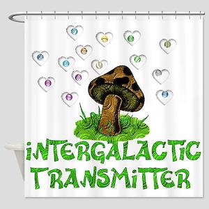 Intergalactic Transmitter Shower Curtain
