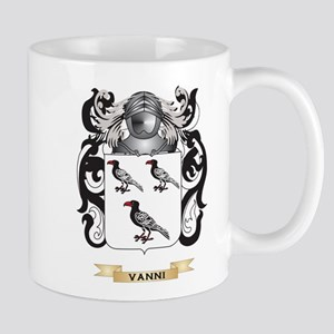 Vanni Family Crest (Coat of Arms) Mugs