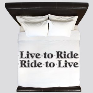 Live to Ride King Duvet