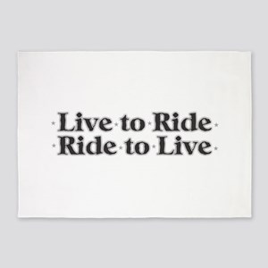 Live to Ride 5'x7'Area Rug