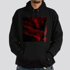 impressive moments full of color-red black Hoodie