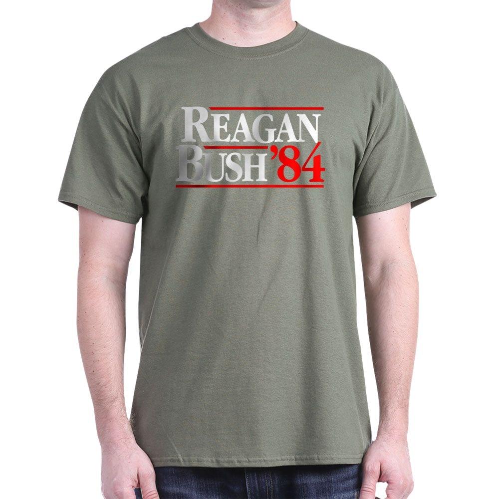 Cafepress Reagan Bush 84 Campaign T Shirt 100 Cotton T