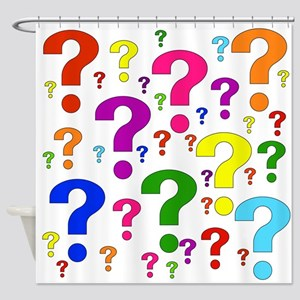 Rainbow Question Marks Shower Curtain