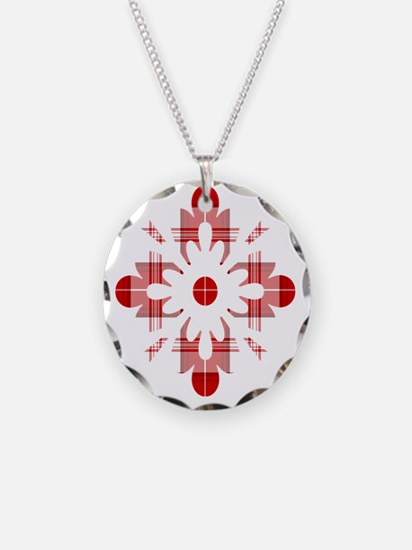 Tartan Snowflake Necklace