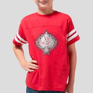 xy on black Youth Football Shirt