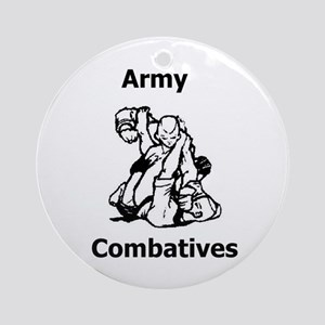 Army Combatives Gear Ornament (Round)