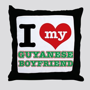 I love my Guyanese Boyfriend Throw Pillow