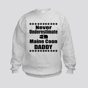 Never Underestimate Maine Coon Cat Kids Sweatshirt