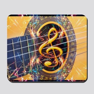 Acoustic Guitar Explosion of Music Mousepad