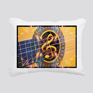 Acoustic Guitar Explosio Rectangular Canvas Pillow