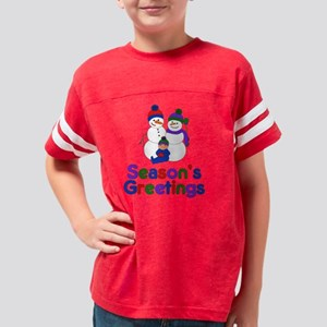 Seasons Greetings Med Skin Sn Youth Football Shirt