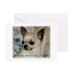 Chihuahua Head Study Greeting Cards (Pk of 10)