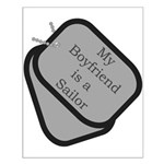 My Boyfriend is a Sailor dog tag Small Poster
