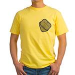 My Boyfriend is a Sailor dog tag Yellow T-Shirt