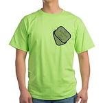 My Boyfriend is a Sailor dog tag Green T-Shirt