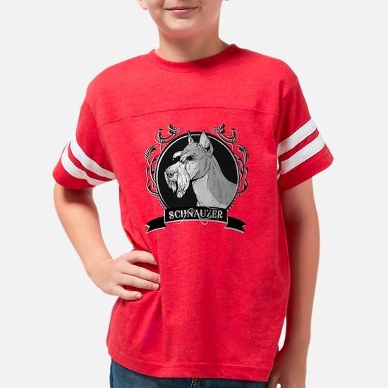 dogcrest_schnauzerblack Youth Football Shirt
