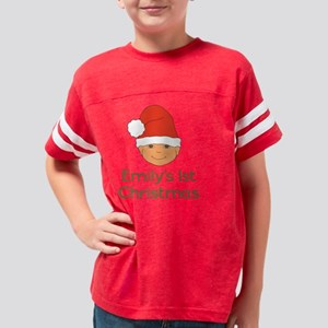Emilys First Christmas Santa  Youth Football Shirt