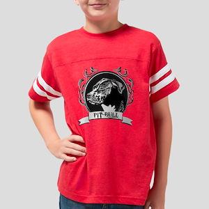 3-dogcrest_pitbull Youth Football Shirt