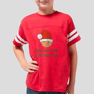 Joshuas First Christmas Santa Youth Football Shirt