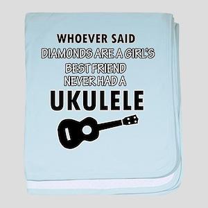 Ukulele Design better than Diamonds baby blanket