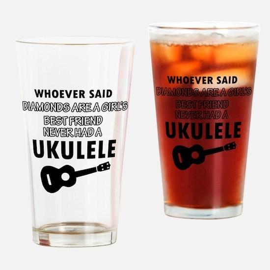 Ukulele Design better than Diamonds Drinking Glass