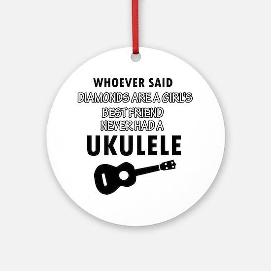 Ukulele Design better than Diamonds Ornament (Roun