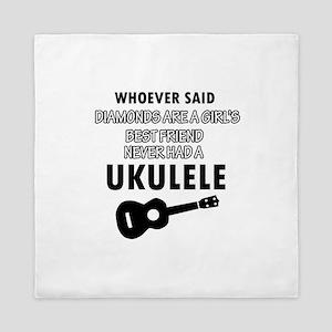 Ukulele Design better than Diamonds Queen Duvet