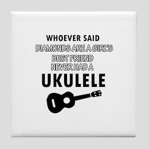 Ukulele Design better than Diamonds Tile Coaster