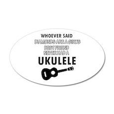 Ukulele Design better than Diamonds Wall Sticker