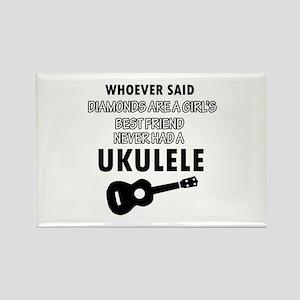 Ukulele Design better than Diamonds Rectangle Magn