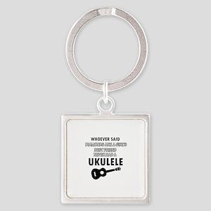 Ukulele Design better than Diamonds Square Keychai