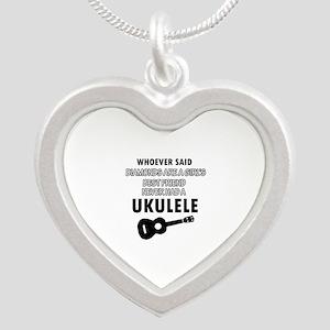 Ukulele Design better than Diamonds Silver Heart N
