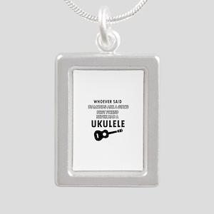 Ukulele Design better than Diamonds Silver Portrai