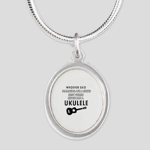 Ukulele Design better than Diamonds Silver Oval Ne