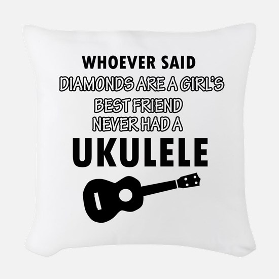 Ukulele Design better than Diamonds Woven Throw Pi