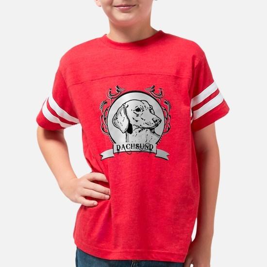 dogcrest_dachsundwhite Youth Football Shirt